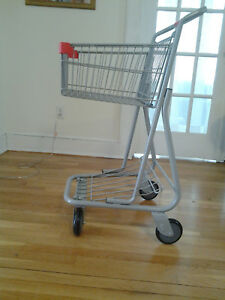New Mini Retail Shopping Cart Grey Color 40x22x20 5 Inch 75lb Basket Capacity