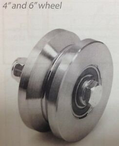 4 Inch v Groove Sliding Gate Roller Wheel 3 000 Lb Capacity Set Of 2