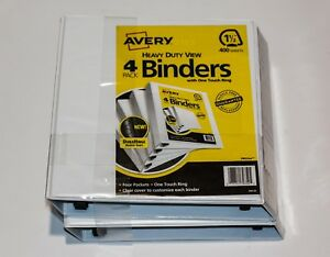 Avery Heavy Duty View Binder With One Touch Ezd Rings 1 1 2 Capacity White 4ct