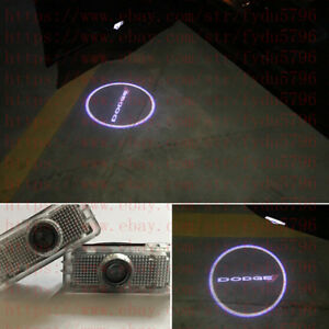No Drill Led Door Ghost Shadow Projector Logo Light For Dodge Challenger 2015 18