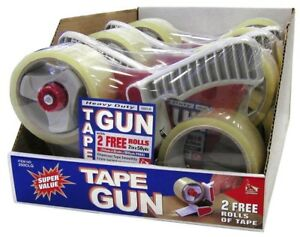 Heavy Duty Tape Gun With 2 Free Rolls Of Tape 50 Yards Each 6 Pack