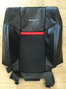 2008 2014 Dodge Challenger Srt8 Factory Original Front Seat Back Cover black