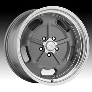 American Racing Vintage Vn511 Salt Flat Mag Gray 17x8 5x4 5 0mm Vn51178012400