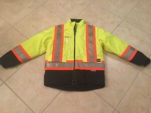 3m Work King Construction High Visibility Safety Jacket Medium New Without Tags
