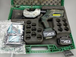 Greenlee Gator Ek1240l 12 Ton Cordless Crimper Crimping Tool W Battery charger