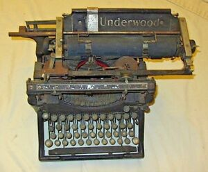 Antique Underwood No 5 Standard Vintage Typewriter 7817