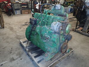 John Deere 6466t Diesel Engine Runs Good Turbo 466 Loader Tractor 7 6 L