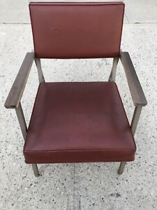 Vintage Steelcase Mid Century Industrial Office Arm Chair
