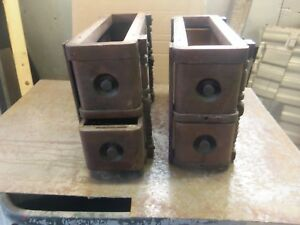 Vintage Singer Treadle Sewing Machine Drawers 2 Pairs With Mounts