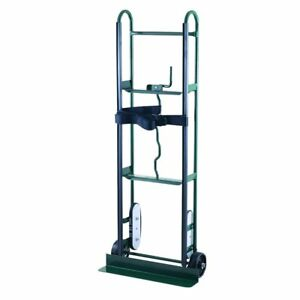 Green Steel Hand Truck 800lb Dolly Cart Stair Climber Moving Hauling Belt Straps