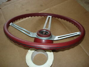 1969 1970 1971 1972 Olds Buick Chevelle Gto Red Comfort Grip Steering Wheel Hub