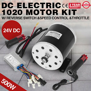 Dc Electric Motor Kit 24v 500 W Switch speed Control throttle 2500rpm