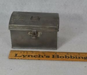 Tin Document Box Small Miniature 4 In Early Salesman Sample Antique 1800s