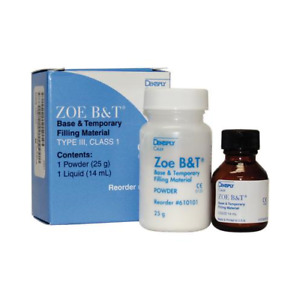 Dentsply 610103 Zoe B t Dental Base Temporary Filling Material Complete Kit
