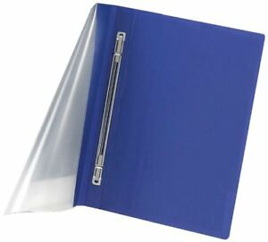 Oxford Poly Presslock Report Covers Polypropylene Blue Clear ess52702