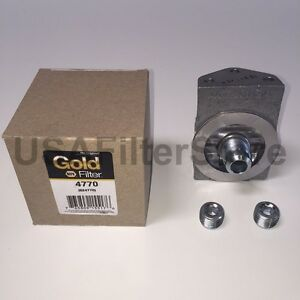 Genuine Napa Gold 4770 Fuel Filter Remote Mounting Base Wix 24770