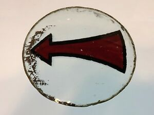 Early Vintage Arrow Turn Signal Light Lens Motorcycle Car Bus Truck 3 15 16 Old