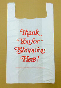 500 18x8x32 Jumbo 32 Large Retail Thank You High Density Plastic T shirt Bags