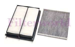 Combo Carbonized Cabin Engine Air Filter Set For Hyundai Santa Fe Sport 2017 18