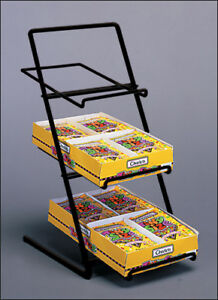 Counter Candy Gum And Snack Display Rack Slant Back black