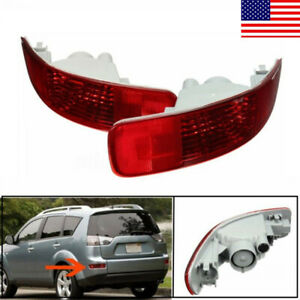 2x Rear Bumper Fog Driving Tail Light Reflector For Mitsubishi Outlander 2008 Dy