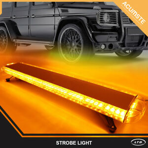 72 Led Car Emergency Beacon Warn Response Strobe Light Bar Lamp Amber Yellow