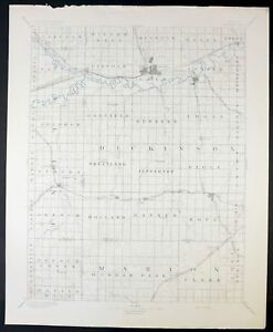 1894 Abilene Kansas Chapman Solomon Rare Antique Usgs Topo Topographic Map