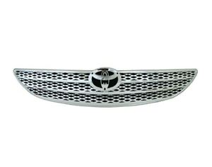 Fits 2002 2003 2004 Toyota Camry Le Xle Front Bumper Radiator Grille Chrome Abs