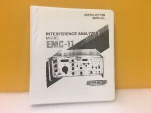 Electro metrics Interference Analyzer Emc 11 Instruction Manual