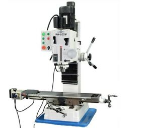 Pm 932m pdf Vertical Milling Machine Power Down Feed No Stand Free Shipping