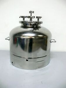 Apache Stainless 316l 55 Liter Stainless Steel Pressure Vessel 135 Psi 305f