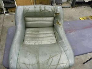 1979 To 1982 Corvette Oem Leather Seat Bottom Cushion Silver Green