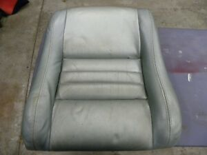 1979 To 1982 Corvette Oem Leather Seat Back Cushion Silver Green