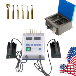 Dental Lab Electric Wax Carving Knife Machine Double Pen 3 well Wax Heater Pot