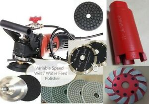 Wet Polisher Lapidary Concrete Hollow Extractor Saw Blade Sanding Polishing Pad