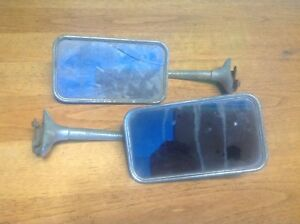 Lqqk Vintage Pair Side View Mirrors Early Auto Marked Joma Solid Restorable