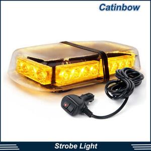 24 Led Rooftop Strobe Light Bar Amber Flash Emergency Warning Beacon Lamp Yellow