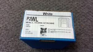 System Sensor P2wl Wall Horn Strobe Fire 2 Wire Indoor Clear New