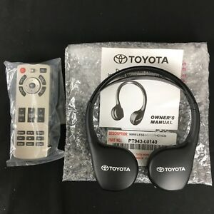 Toyota Sienna Land Cruiser Highlander Venza Dvd Headphone And Remote Control Oem