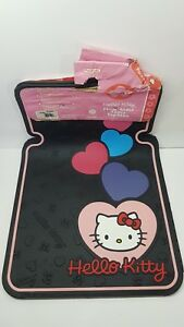 2 Pcs Hello Kitty Universal Rubber Car Truck Floor Matts Front Hearts Variant