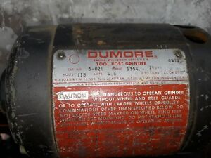 Dumore Tool Post Grinder Motor Only Free Shipping
