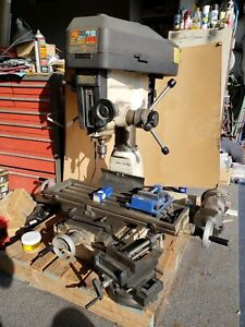 Rong Fu Rf 30 29 Inch Table Drill Mill Single Phase 110 2hp W accesories