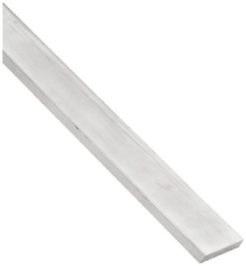 7075 Aluminum Rectangular Bar Unpolished Mill Finish 1 4 Thickness 1 Width