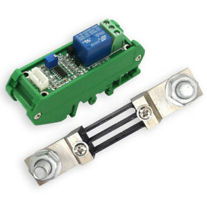 Dc300a 24v With Base Current Shunt Current Sensor Module Board Relay Output