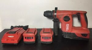Hilti Te 4 a18 22v With 3 5 2ah Battery s Charger Cordless Rotary Hammer Drill