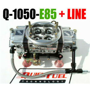 Quick Fuel Q 1050 e85 1050 Cfm E 85 Carburetor Black Carb Line Kit Must See