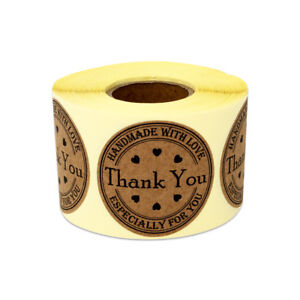 Thank You Handmade With Love Stickers Honey For You Handcraft Labels 1 5 10pk