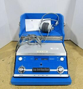 Maico Hearing Instruments Ma 20 Audiometer W Headphones Case Power Tested