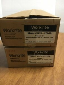 Workrite Pinnacle 2 Arm W Thinglide 22 Track Keyboard Tray Support 3170 22tgb