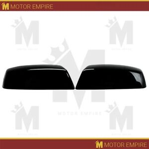 Top Half Mirror Cover Fits 2015 2018 Chevrolet Silverado 2500 Black